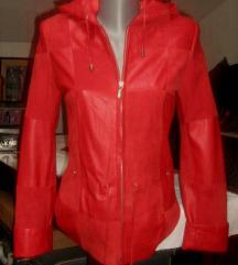 kozna jakna sa kapuljacom XS nova