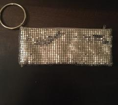 Srebrna pismo torba sa navlakom za ruku