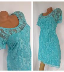 ❤ Azurno plava turska čipkana haljina ❤ NOVO