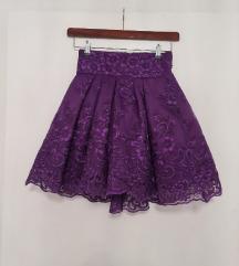 Ljubičasta puf suknja