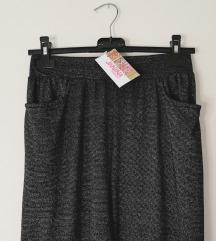JANINA baggy svetlucave glitter pantalone NOVO