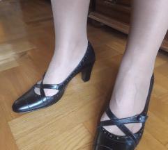 Minozzi Milano kozne crne cipele NOVE