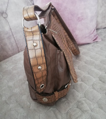 Krem braon torba