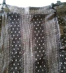 Duga sivo-crna suknja S/M sa elastinom