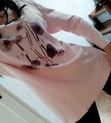Bluza tunika puder roze, ESPRIT