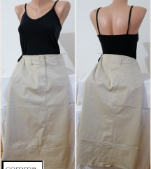2.2. Kežual krem dugačka suknja  M