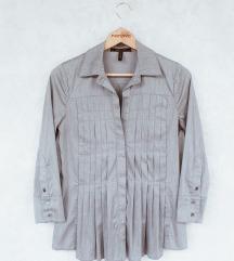 BCBG Max Azria siva plisirana košulja S