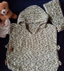 Pončo za bebe i mlađu decu, ručni rad, baby vunica