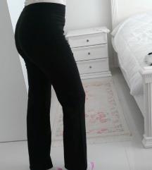 %SNIŽENE-Nove crne pantalone visok struk /S