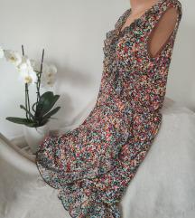 OUTFIT viskozna cvetna haljina sa karnerom vel 44