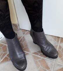 HOGL vrhunske sive kozne cipele kao nove