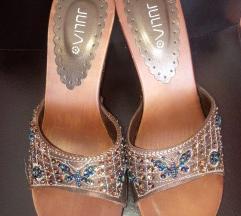 Drvene boho papuče sa perlicama