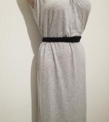 Urbana siva maxi haljina L \ XL