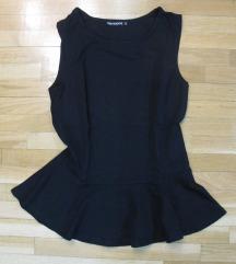 522. Peplum majica crna, bez rukava