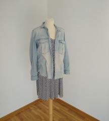 H&M haljina sa mornarskom sarom
