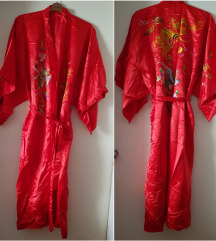 Vintage Golden Bee svileni kimono