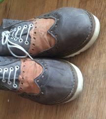 Sivo roze KOŽNE cipele