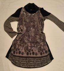 Atraktivna zimska haljina - tunika, S/M