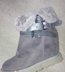 Sive čizme na platformu rezz