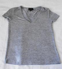 H&M srebrna majica s-m