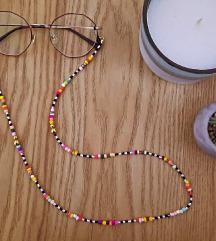 Lanac za naočare od staklenih perlica