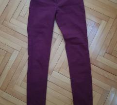 Skinny bordo pantalone