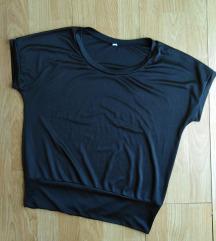 Crna majica od mokre likre M/L