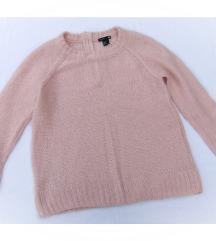 H&M roze dzemper S / M