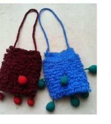2 etno torbice 9 x 13 cm