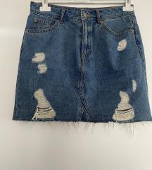 H&M teksas mini suknja novo SNIZENO 1200