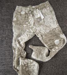 HM lanene pantalone u bez printu