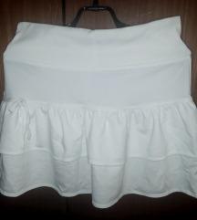 Bela pamučna suknja sa karnerima