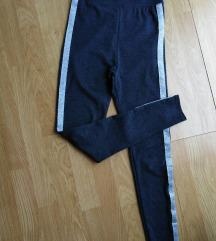 RezzHigh waist sive sa srebrnom trakom S/M