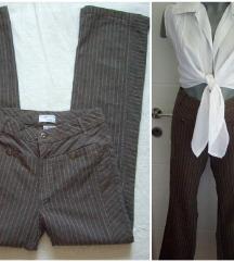 Prugaste zenske pantalone-farmerke  XS 36/34