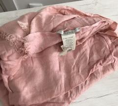 Puder roze marama/šal