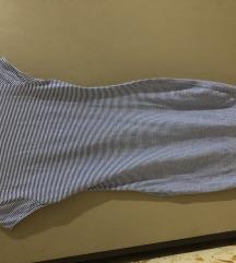 Uska pamučna haljina na štrafte