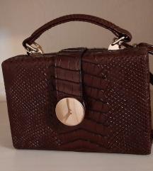 Braon kroko torbica
