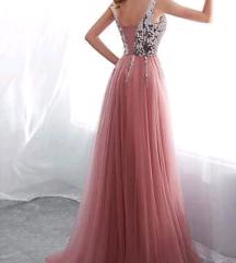 Duga svečana haljina sa cirkonima