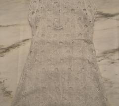 Zara haljina od belog veza