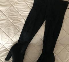 Kitten crne cizme iznad kolena SNIZENE