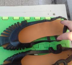 Crne kozna sandale