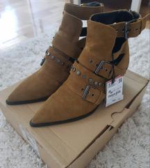 ZARA kozne cizme (sa etiketom)