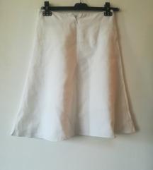 Bela AMC lanena suknja M novo