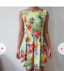Zuta cvetna haljinica