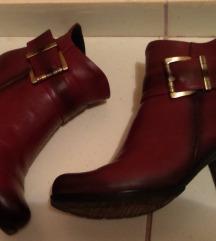 Kozne cizme, gleznjace,39, kao nove, bordo
