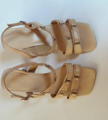 Kožne bež sandale