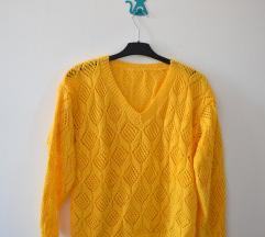 Žuti džemper - ručni rad