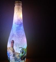 Slavska ,ukrasna,svetleća  flaša