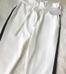 Italijanske bele Paperbag pantalone NOVE sa et