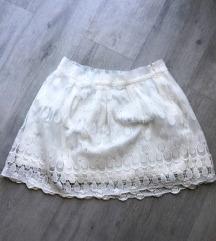 Suknja bela cipka